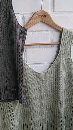 Crochet Tank Tops, Knit Or Crochet, Crochet Shawl, Tunisian Crochet, Crotchet, Knitting Patterns, Crochet Patterns, Stitch Patterns, Step By Step Crochet