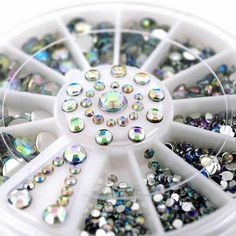 Find More Rhinestones & Decorations Information about 360 Pcs Nail Art Tips Crystal Glitter Rhinestone 3D Nail Art Decoration+Wheel Rhinestones For Nails,High Quality wheel rhinestones,China glitter rhinestone Suppliers, Cheap rhinestones for nails from Cala Beauty Factory  on Aliexpress.com