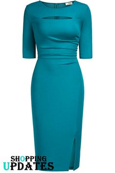 Women Vintage Cut Out Sexy Little Sheath Evening Party Dress. Office Outfits Women, Stylish Work Outfits, Classy Outfits, African Wear Dresses, Latest African Fashion Dresses, Plus Dresses, Casual Dresses, Frock Fashion, Looks Chic