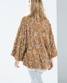 Image 2 of HANDMADE VELVET KIMONO from Zara