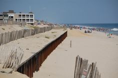 Brick to be Prioritized in Beach Replenishment Project, Mayor Says  A sheet pile wall exposed where engineered dunes are planned for the beach in Brick, N.J. (Photo: Daniel Nee)