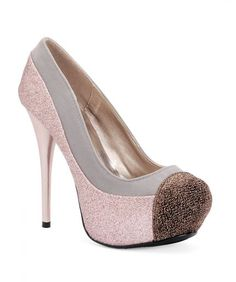 Pink Glitter Pumps. Shoe Privee.