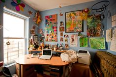 eclectic home office by Chris A. Dorsey