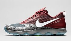 The Nike Zoom HyperCross Trainer is rendered in four unique colorways for the College Football Playoff.