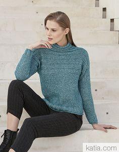 Catalogue Femme Concept 4 Automne / Hiver | 38: Femme Pull | Bleu vert