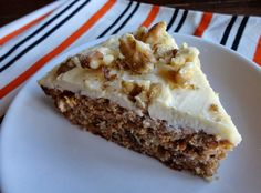Carrot Cake with Maple-Orange Frosting (Grain-Free)  #justeatrealfood #risingmoonnutrition