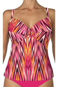 Suit Yourself's > Tops > Swim Systems > Shirred Underwire Tankini - 600789432704   Suit Yourself