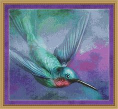 Counted Cross Stitch Pattern Hummingbird by StitchXCrossStitch, $2.95