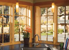 Enjoy A Beautifulview From Your Kitchen Sink With Pella Architect Series  Casement Windows With Grilles.