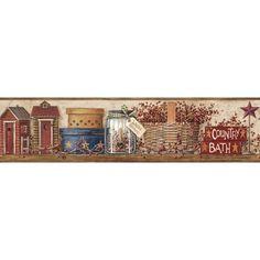 Inspired by Color Khaki Bath Border Wallpaper