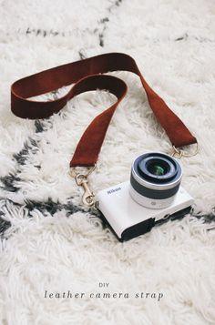 diy leather camera strap via almost makes perfect