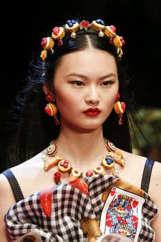 Cong He for Dolce & Gabbana Spring 2018