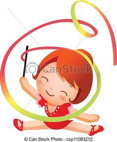 Rhythmic gymnastics Illustrations and Clip Art. 901 Rhythmic ...