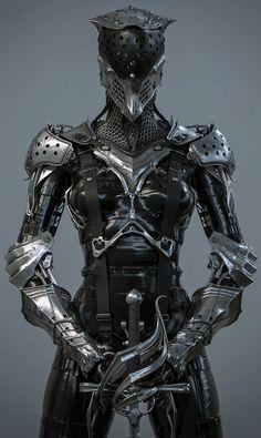 new ideas medieval fantasy art female characters Medieval Armor, Medieval Fantasy, Fantasy Armor, Dark Fantasy, Armor Concept, Concept Art, Fantasy Characters, Female Characters, Character Concept