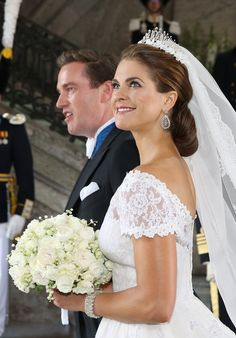 Princess Madeleine of Sweden, the youngest of King Carl and Queen Silvia's children and fourth in line to the throne, marries US Banker Christopher O'Neill. June 8, 2013