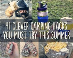 41 Genius Camping Hacks You'll Wish You Thought Of Sooner.  The toothpaste one would be good for any travelling I think.