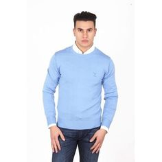 Astonishingly gorgeous and exquisite, Authentic, brand new V 1969 Italia mens round neck sweater 9800 GIROCOLLO AZZURRO. All V 1969 Italia Men's Bel. Mens Cotton Sweaters, Merino Wool Sweater, Casual Looks, Versace, Men Sweater, Pullover, Mens Fashion, Long Sleeve, Mens Tops