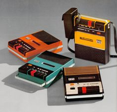 Retro vintage technology, computers, phones, radios, cassette & record players for The Indie Practice Radios, Cassette Recorder, Tape Recorder, Cassette Tape, Vintage Designs, Retro Vintage, Retro Pop, Poster Vintage, Record Players