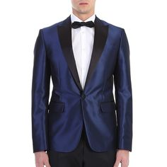 Dsquared2. Beverley Hills blue and black wool silk tuxedo. Made In Italy.