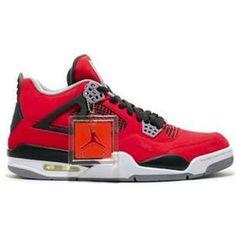 http://www.asneakers4u.com/ Air Jordan Retro 4 Toro Bravo 308497 603 Fire Red White Black Cement Grey