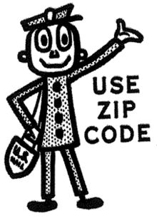 Mr. ZIP, encouraging use of ZIP codes in the 1960s and 1970s