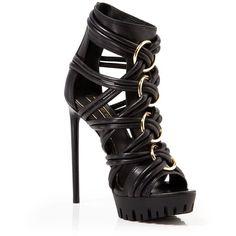 Rachel Zoe Open Toe Platform Sandals - Harlin High Heel ($297) ❤ liked on Polyvore