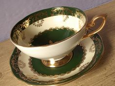 Antique Irish teacup and saucer Royal Standard by ShoponSherman