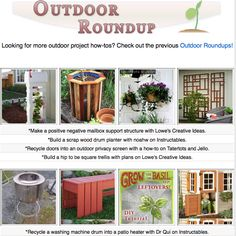 16 outdoor project tutorials! Planters, garden decor, yard projects and more!