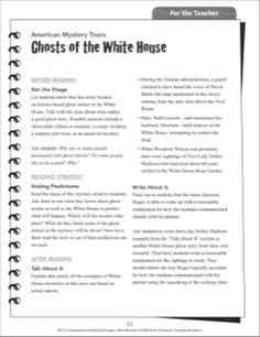 Making Predictions (Ghosts of the White House): Hi-Lo Comprehension-Building Mini-Mysteries
