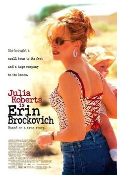 'Erin Brockovich' starring Julia Roberts in the title role. A divorcee convinces her boss (Albert Finney) to investigate contaminated water in a nearby town. The film was an Oscar winner for Julia Roberts. Dvd Film, Film Music Books, Film Serie, See Movie, Movie List, Movie Tv, Movie Club, Films Étrangers, Films Cinema