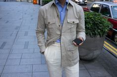 Linen safari jacket by Ascot Chang for the Armoury.