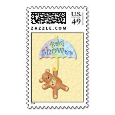 Baby Shower postage stamp