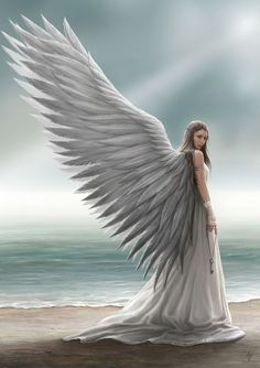Angels are messengers and warriors of God. (Spirit Guide by Anne Stokes)