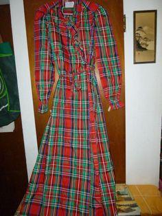 Vintage Clovis Ruffin Boutique Robe Bathrobe S Small Taffeta Festive Holiday Dressy loungewear