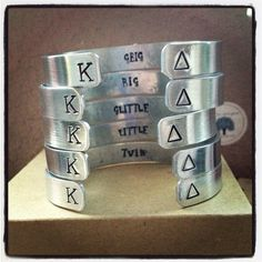 KAPPA DELTA SORORITY Series Cuff Bracelet. @Tayler Hobba Mitchell @MacKenzie Thomas @Mary Powers Faith Birthisel For big/little this year???