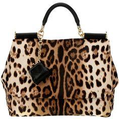 Dolce and Gabbana leopard bag Fashion Handbags, Purses And Handbags, Fashion Bags, Fashion Purses, Fashion Top, Leather Handbags, Spring Fashion, Handbag Accessories, Fashion Accessories