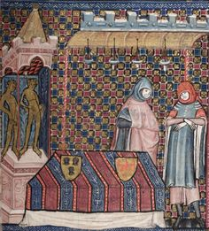 Bodleian Library MS. Bodl. 264, The Romance of Alexander in French verse, 1338-44; 96r