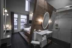 Reserve Le Germain Charlevoix Baie-St-Paul, Quebec, Canada at Tablet Hotels Baie St Paul, Quebec Montreal, Quebec City, Architecture Design, Country Hotel, Bedroom Windows, Hotel Interiors, Canada, Commercial Design