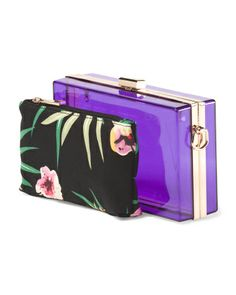 Clear Square Clutch With Pouch
