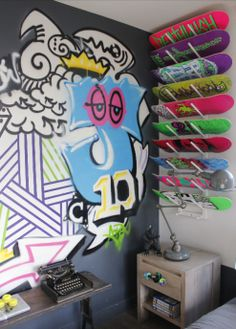 Deck your walls with Skateboards, Fashionably. | Home On The Runway | A Fashion Infused Interior Design Blog