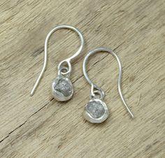 Tamara Gomez - Rough Diamond earrings, sterling silver. #roughdiamonds