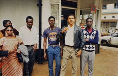The U.S. president has a total of 10 half siblings from his mother's two marriages, his father's four, and another two from his former stepfather, Lolo Soetoro. (Pictured) Obama along with his aunt, cousin and half-brothers during a trip to Kenya in 1987. - INS News Agency Ltd./REX