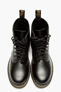 DR. MARTENS Black leather 1460 ORIGINALS 8-EYE BOOTs
