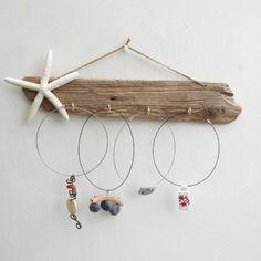 Présentoir à bijoux en bois flotté *étoile de mer