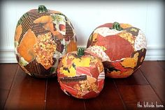 Decoupage your pumpkins with fall scrapbook paper!