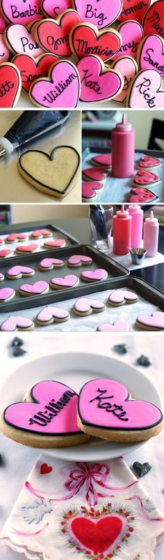 Love Story Cookies | Click Pick for 20 Homemade Valentines Day Cookies for Kids to Make | Easy Valentines Day Baking for Him