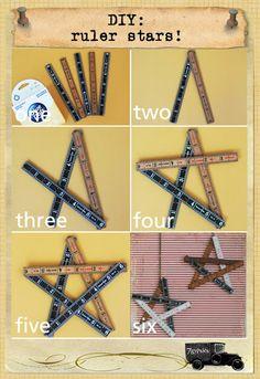 Gypsies Journal: diy ruler star