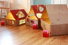 From Cardboard Box to Lighted Dollhouse