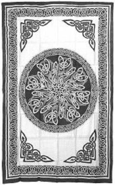 Celtic Knots Light Bedspread White Tapestry, Wall Hanging, or Altar Cloth! NEW!
