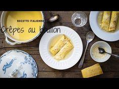 Crêpes en bouillon (scrippelle 'mbuse) comme en Italie, dans les Abruzzes. Une recette très facile (avec la vidéo) et des ingrédients du placard. Un plat fin et réconfortant. Comme, French Toast, Breakfast, Ethnic Recipes, Pancakes, Food, Cream Soups, Italian Cuisine, Real Simple